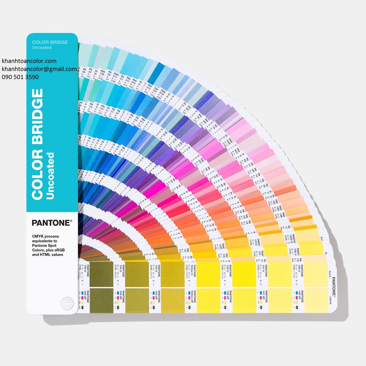 bang mau Pantone Color Bridge Uncoated GG6104A (New 2019)