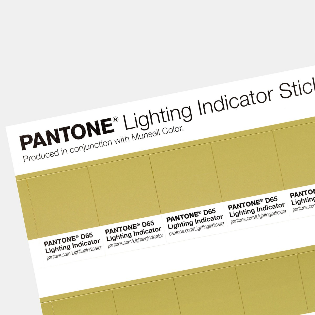 bang mau pantone - Pantone Lighting Indicator Stickers D65 (1)