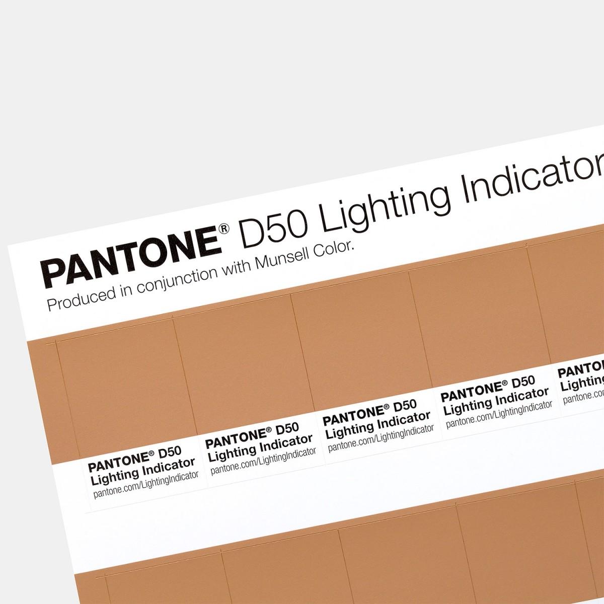 bang mau pantone Lighting Indicator Stickers D50